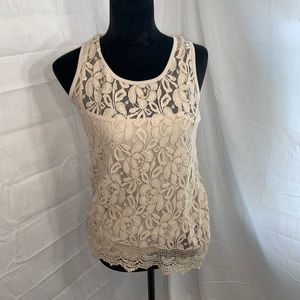 Cable and gauge lace tank